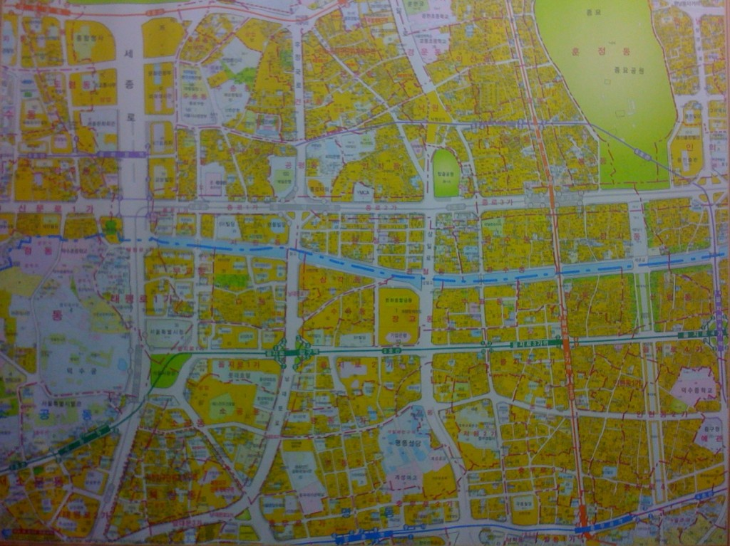 A real-estate agent's map of Seoul. Jongno, January 2010.